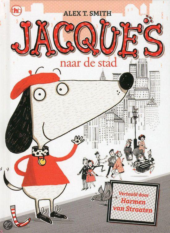 Alex T. Smith - Jacques naar de stad || Vandaag gaan Jacques en meneer Wiebelsok naar de stad. Ze drinken een kopje thee in een café, bekijken winkeltjes en ze bezoeken een museum. Daar zien ze dat een dief een kunstwerk wil stelen. Wat moeten ze doen? || Op tiplijst kinderjury 2013 || www.bol.com/nl/p/jacques-naar-de-stad/9200000006547052/