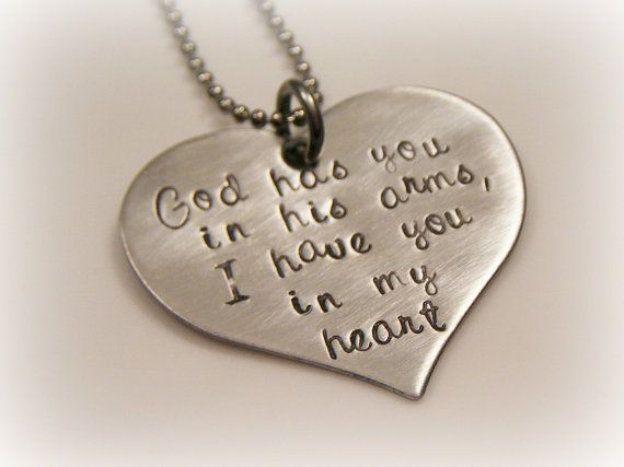 Hand Stamped Heart  Grieving  Miscarriage  by BeeBaublesJewelry, $22.00 LOVE THIS! I know just who to get it for!