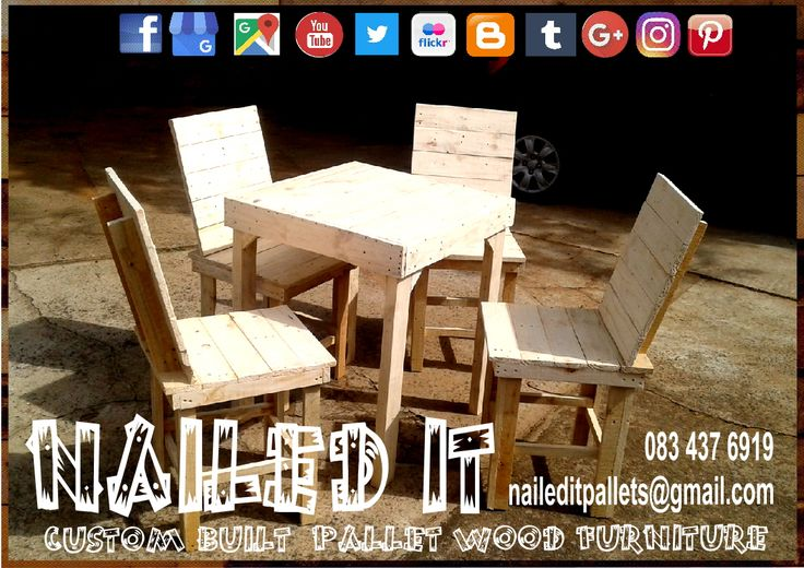 Custom Build Pallet Wood Table & Chair set. Raw Wood Finish. Built to the Client's specific needs & requirements. Suitable for indoor & outdoor use. Contact 0834376919 or naileditpallets@gmail.com for all your inquiries or quotes #pallettableandchairs #outdoorpalletfurniture #naileditpalletfurniture #customfurniture #palletfurnituredurban #custompalletfurniture #palletchairs #pallettable #palletdiningset #palletwoodfurnituredurban #palletoutdoorfurniture