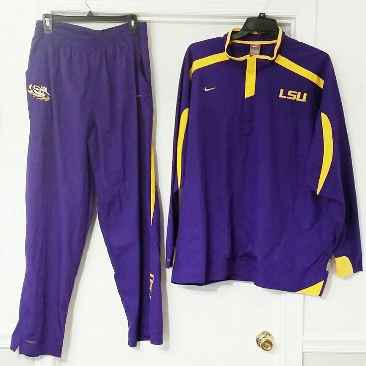 Nike lsu tigers football storm fit pants jacket track suit