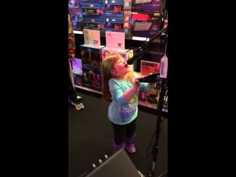 Little Olivia is a born singer.  Rocking out to Singtrix at a local Guitar Center.  https://www.youtube.com/watch?v=VvyDcVhU14Y www.singtrix.com