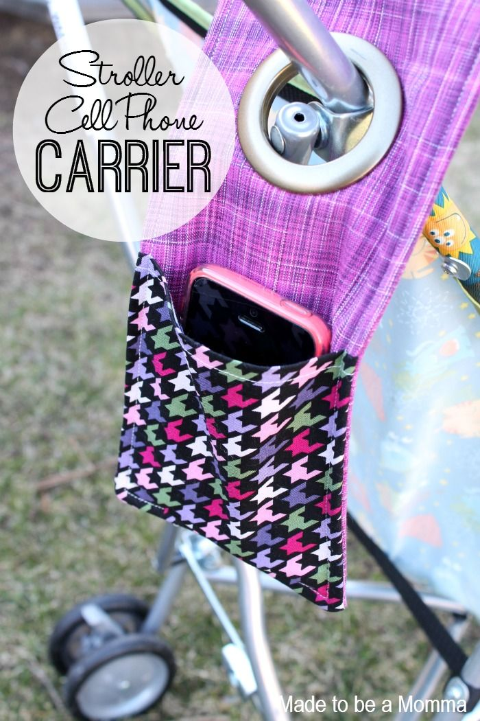 25 *More* Things to Do With Fat Quarters STROLLER CELL PHONE CARRIER!