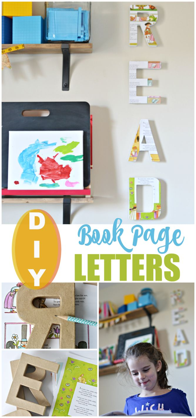 Diy letter wall decor for a child 39 s room playroom or for Wall letters kids room