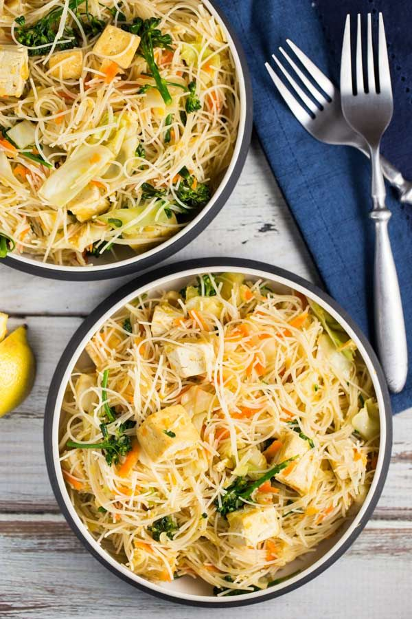 This popular Filipino noodle dish, called Pancit, is surprisingly simple to make and full of flavor. It's also super healthy!!