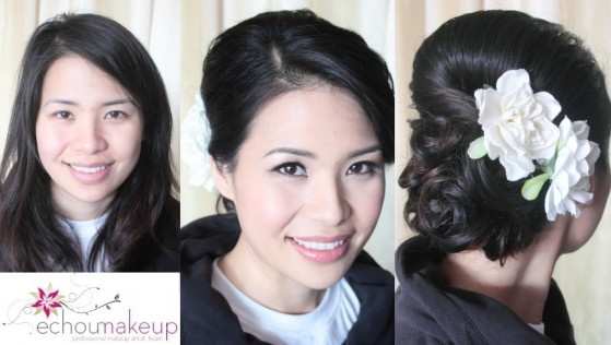 I still like the low chignon with flowers...but not sure if I have the neck and face shape for it...