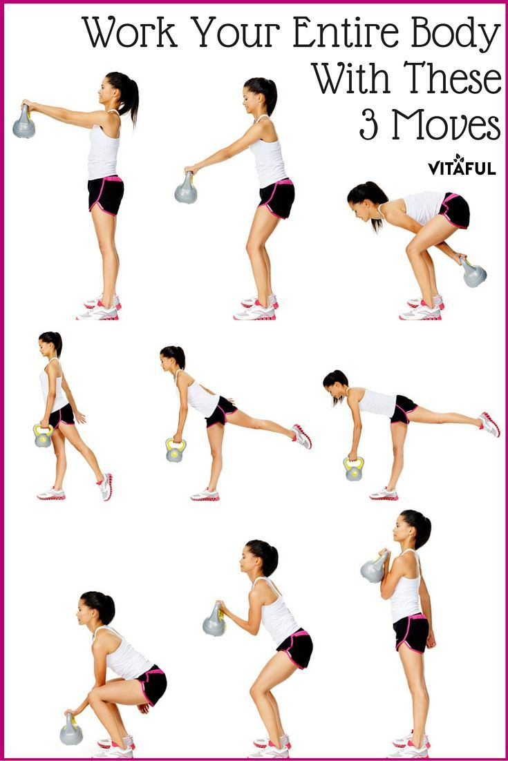 Work All The Core Muscles In Your Body With These Three Kettlebell Workout Moves | Total Body Workout | Workout Routine |