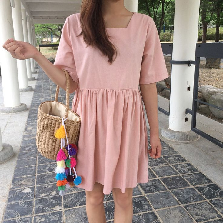 Just another pastel colored dress fit for autumn! #dailyabout