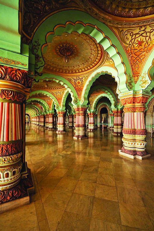 Beautiful Places...Mysore Palace, Karnataka, India, photo by Martina Bookingers via Flickr.