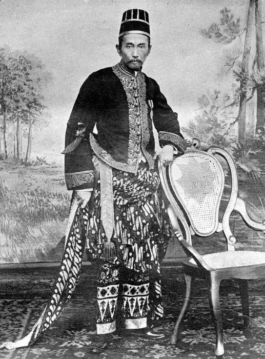 COLLECTIE TROPENMUSEUM Raden Adipati Soeria Nata Ningrat, regent van Lebak (West-Java) in inheems kostuum.