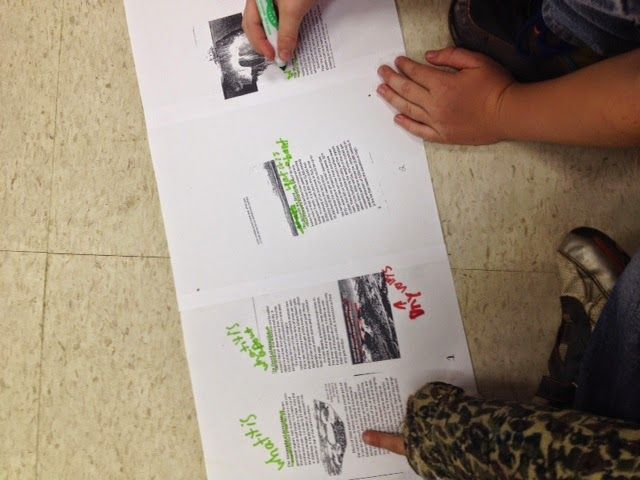 This is my FAVORITE strategy for digging deep into non-fiction text! Text Mapping! My students LOVE this and it REALLY helps with comprehension!