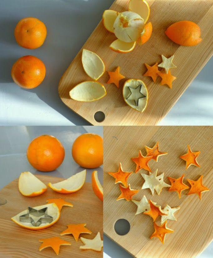 Stelle da buccia di arancia. Orange peel stars, pound flat