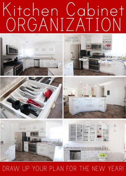 Great kitchen cabinet organization ideas!