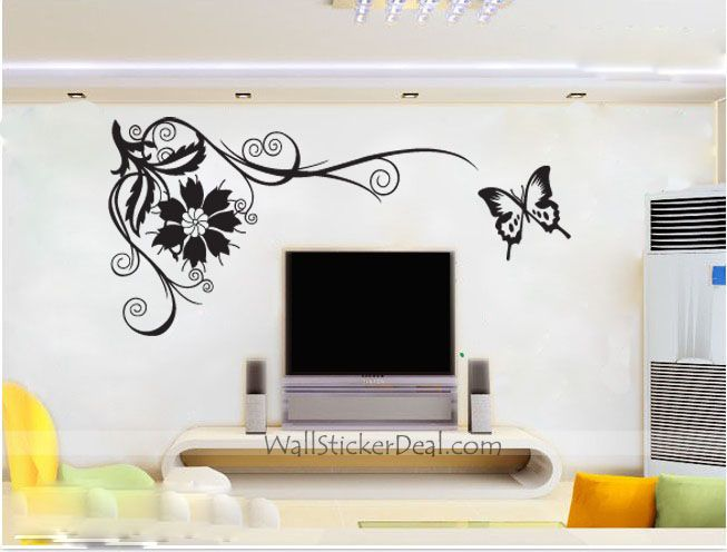 Best Autocollants Muraux Images On Pinterest Stickers Murals - Butterfly wall decals 3daliexpresscombuy d butterfly wall decor wall sticker