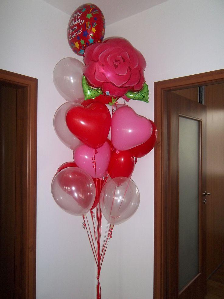 Balónová narodeninová kytica