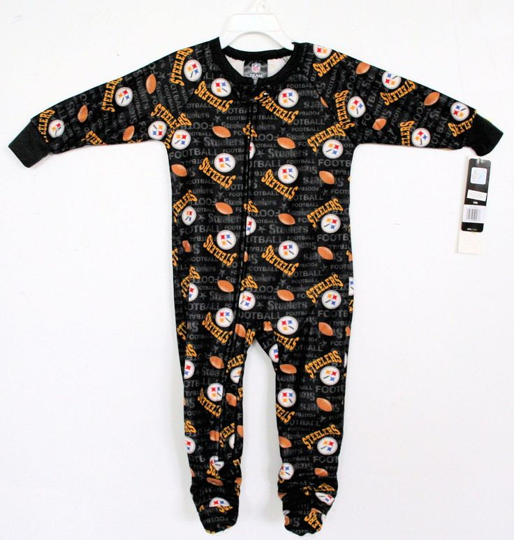 Pittsburgh STEELERS Blanket Sleeper footed Pajamas Todder 2T 3T 4T  NFL NEW !