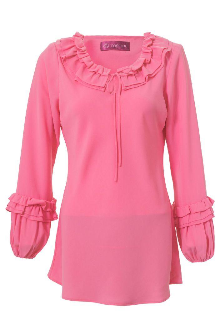 Fancy Gathered Blouse | TOPGIRL Malaysia - Plus sizes