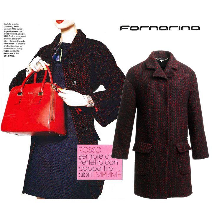 Fornarina outwear on Glamour Italia #myFornarina #presspic #FW14/15