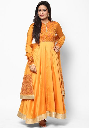 Rohit Bal For Jabong-Yellow Suit Set