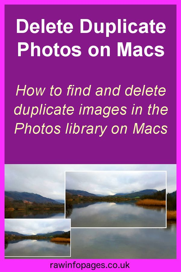 Find Duplicate Photos In The Photos Library On Apple Mac Apple