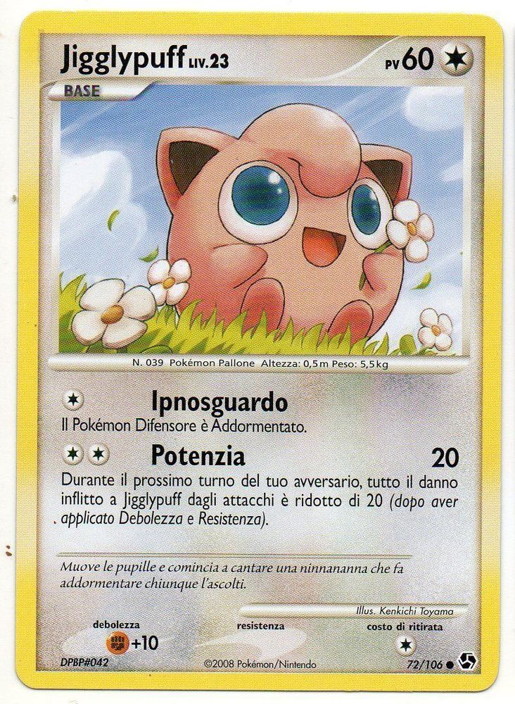 POKEMON JIGGLYPUFF LIV.23 72/106 GREAT ENCOUNTERS COMUNE THE REAL_DEAL SHOP