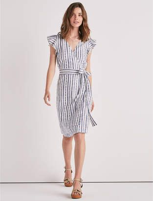 78406b6102 Shop for Lucky Brand Eyelet Stripe Wrap Dress at ShopStyle.com ...