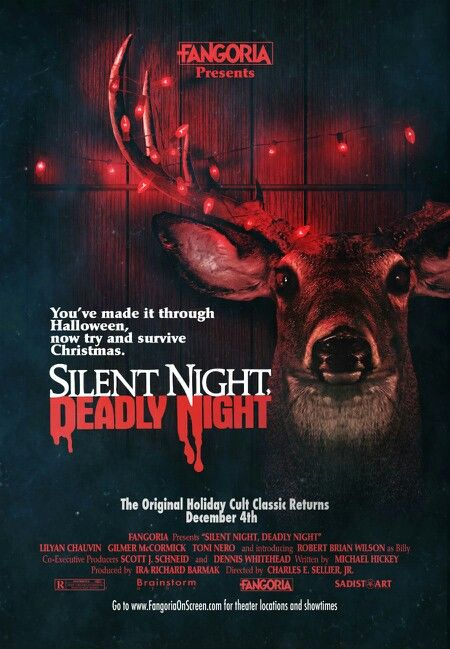 Silent Night Deadly Night. Hilarious movie. And hottest serial killer. And no bras.