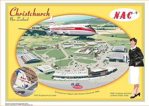 https://flic.kr/p/5mLHvP | NAC Christchurch Airport New Zealand Postcard | Design by Contour Creative Studio Contact us for a copy of  this postcard