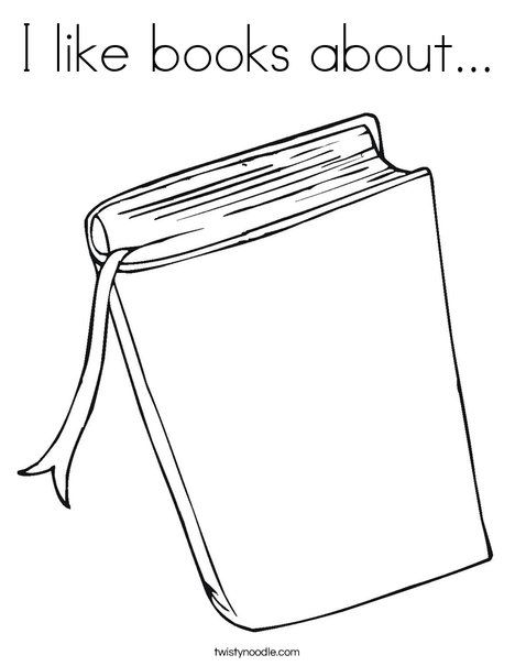 coloring pages of library books - photo#10
