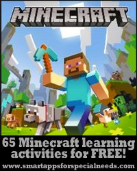 Smart Apps For Special Needs: HUGE Minecraft activities post! SIXTY FIVE learning activities for free!