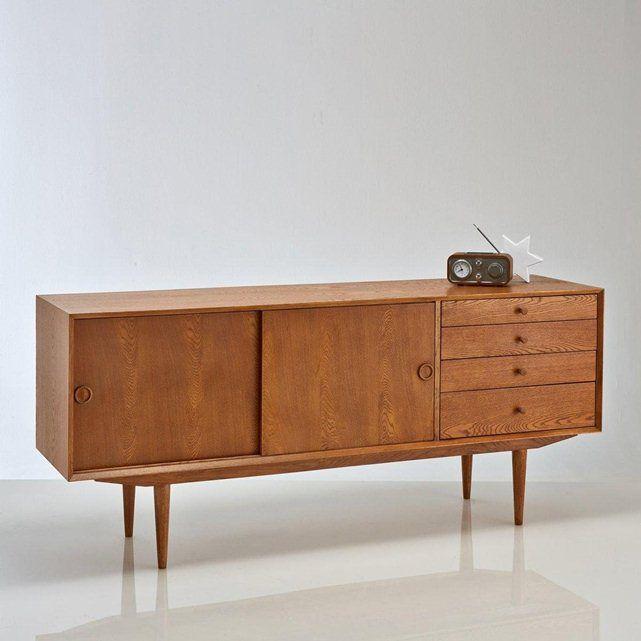 Buffet vintage, 2 portes, 4 tiroirs, Quilda La Redoute Interieurs :