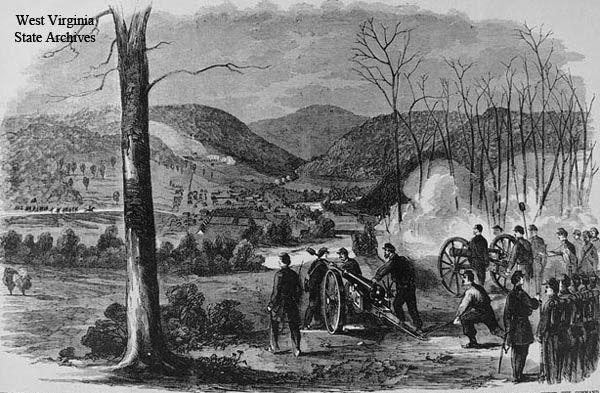 The Civil War Battle of Philippi (West Virginia) June 10, 1861. A confederate victory.