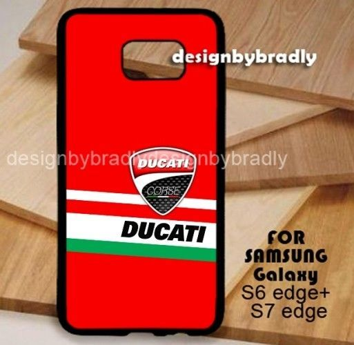 DUCATI CORSE RED Samsung Galaxy S3 S4 S5 S6 S7 S8 Edge Plus Case #UnbrandedGeneric