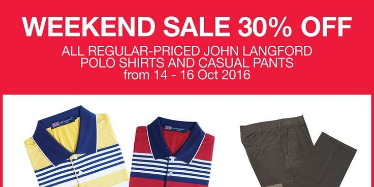 OG Singapore Weekend Sale Up to 30% Off Promotion 14-16 Oct 2016