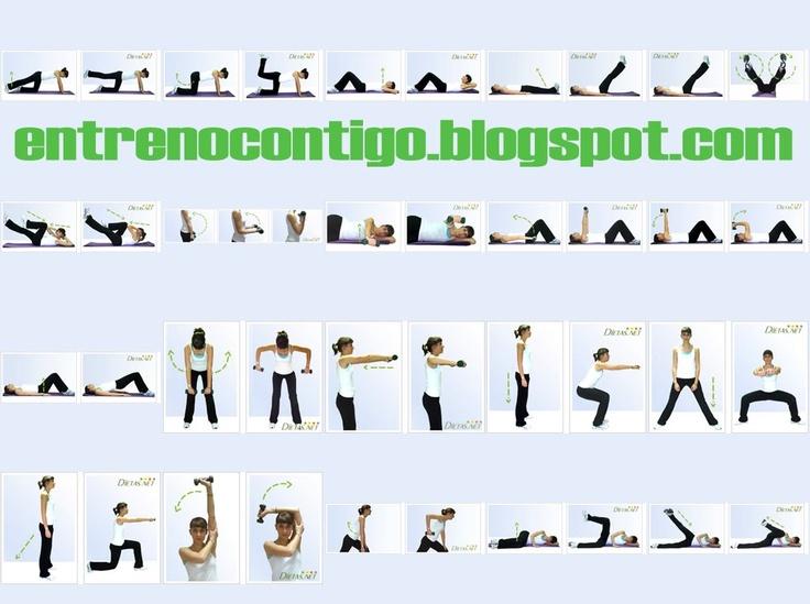 Musculaci n ejercicios y fisicoculturismo tabla para - Ejercicios de gimnasio en casa ...
