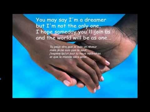 John Lennon - Imagine (avec paroles traduites en français) par BD - YouTube