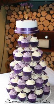 Amazing U201cSexyu201d Blue Velvet Cupcakes U2013 A Bite Of Pleasure. Purple Wedding  CupcakesWedding Ideas ...