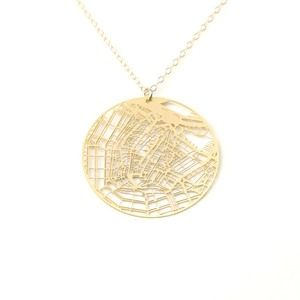 Amsterdam Necklace Gold Plate, $42, now featured on Fab.