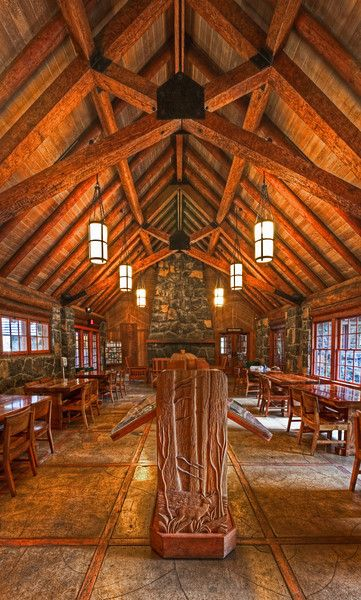 The Interior of the Silver Falls Lodge. Silver Falls Oregon.