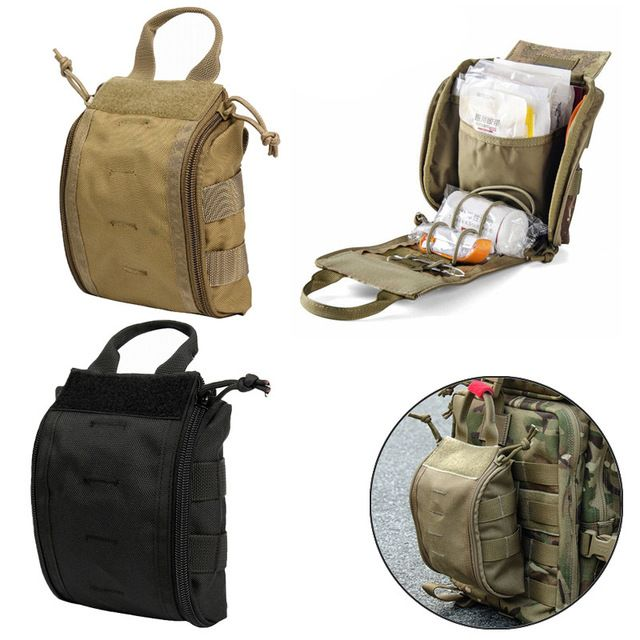 1000d Molle Tactical First Aid Kits Utility Medical Accessory Bag Outdoor Hunting Hiking Survival Modular Medic Bag Pouch Re Bag Accessories First Aid Kit Bags