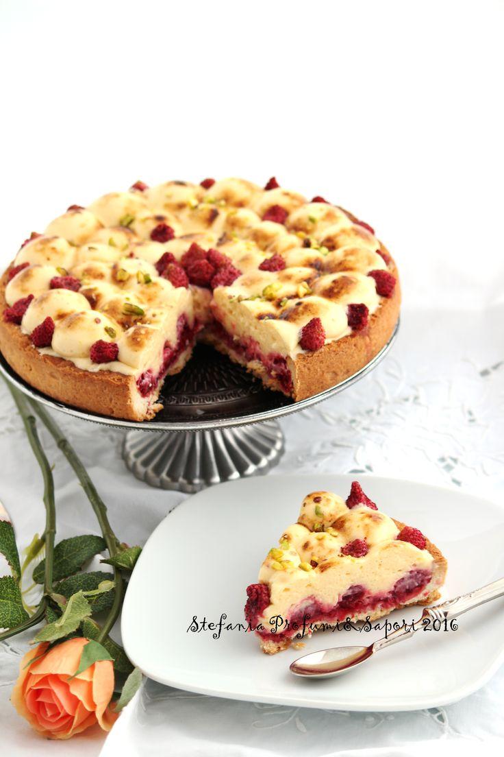 Crostata di lamponi con chibouste alla vaniglia di Luca Montersino