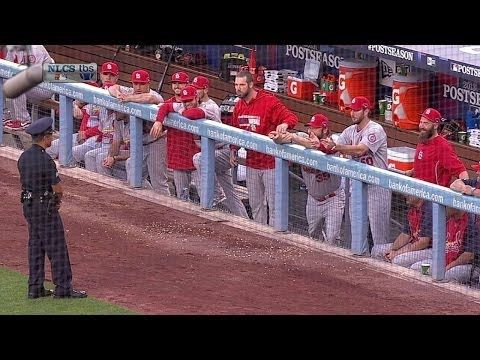Cardinals dugout tries to make cop laugh - YouTube,  love my Birds!