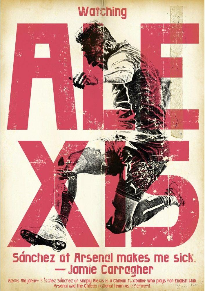 Affiche football vintage de Zoran Lucic, Alexis Sanchez Football Print