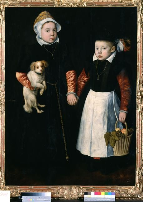 Pieter Aertsen (studio), portrait of sister and brother, 1563 - Dresden, Gemäldegalerie Alte Meister