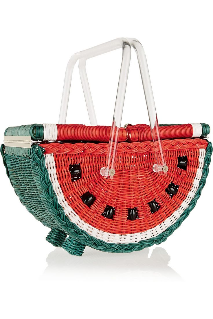 Charlotte OlympiaWatermelon Basket straw totefront