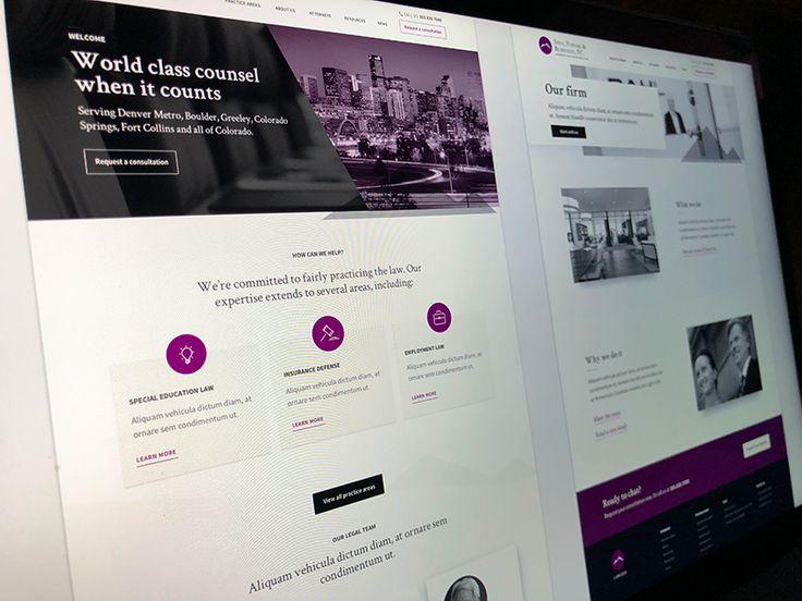 Law Firm Website Wireframes