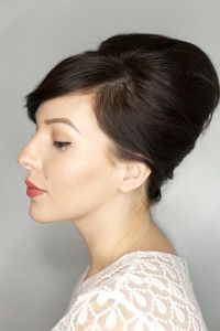 Bouffant Updo Hair Tutorial