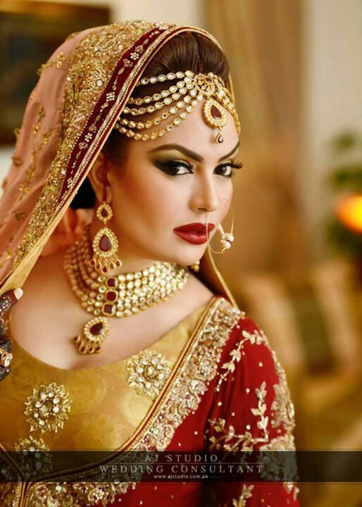 Sadia imam in Pakistani bridal style