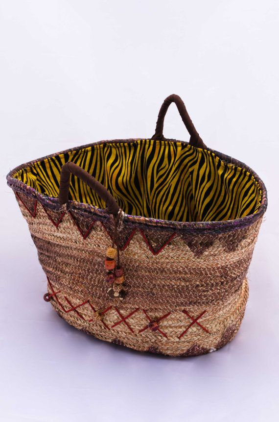 Handmade Woven Palm Leaf Bag/Summer Straw Capazo (market,beach,picnic,shopping) FREE SHIPPING in USA