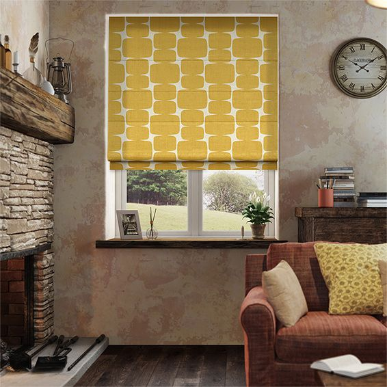 Inspired by times gone past and styles of lands far away, the Lohko Golden Syrup roman blind is the a wonderful mix of retro and contemporary styles.