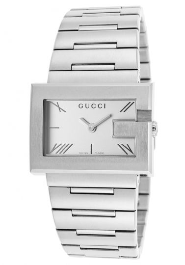 18c7385aafe Gucci YA100506 100L Silver x Stainless Steel Women s Analog Watch ...